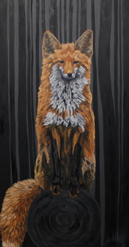 "Fox - 35"" x 55"" - Oil on Canvas - December 2013 - Michael Burris Johnson"