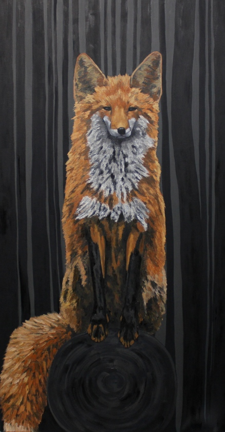 "Fox - 35"" x 55"" - Oil on Canvas - December 2013 - Michael Burris Johnson"