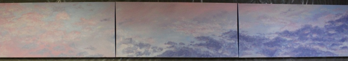 Clouds - July 2013 - Oil on Canvas - 15ft x 27 in
