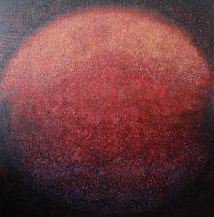 In Utero – 60″x60″ – oil on canvas – November 2013 – Michael Burris Johnson
