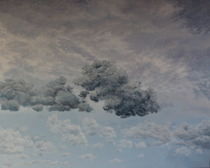 Sky Over Scrap Yard - July 2013 - 48' x 60' - Oil on Canvas - Michael Burris Johnson