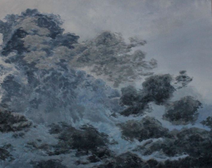 Mid-Summer Storm - July 2013 - 48' x 60' - Oil on Canvas - Michael Burris Johnson