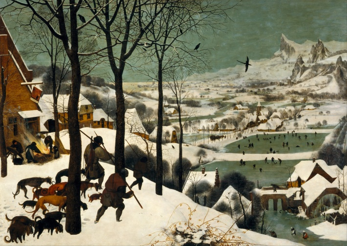 Hunters in the Snow (December/January) - 1565 - Pieter Bruegel