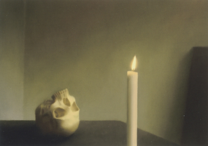 Skull with Candle 1983 - Gerhard Richter