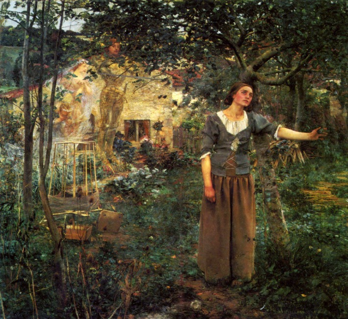 "Joan of Arc - 1879 - 100"" x 110"" - Jules Bastien-Lepage"