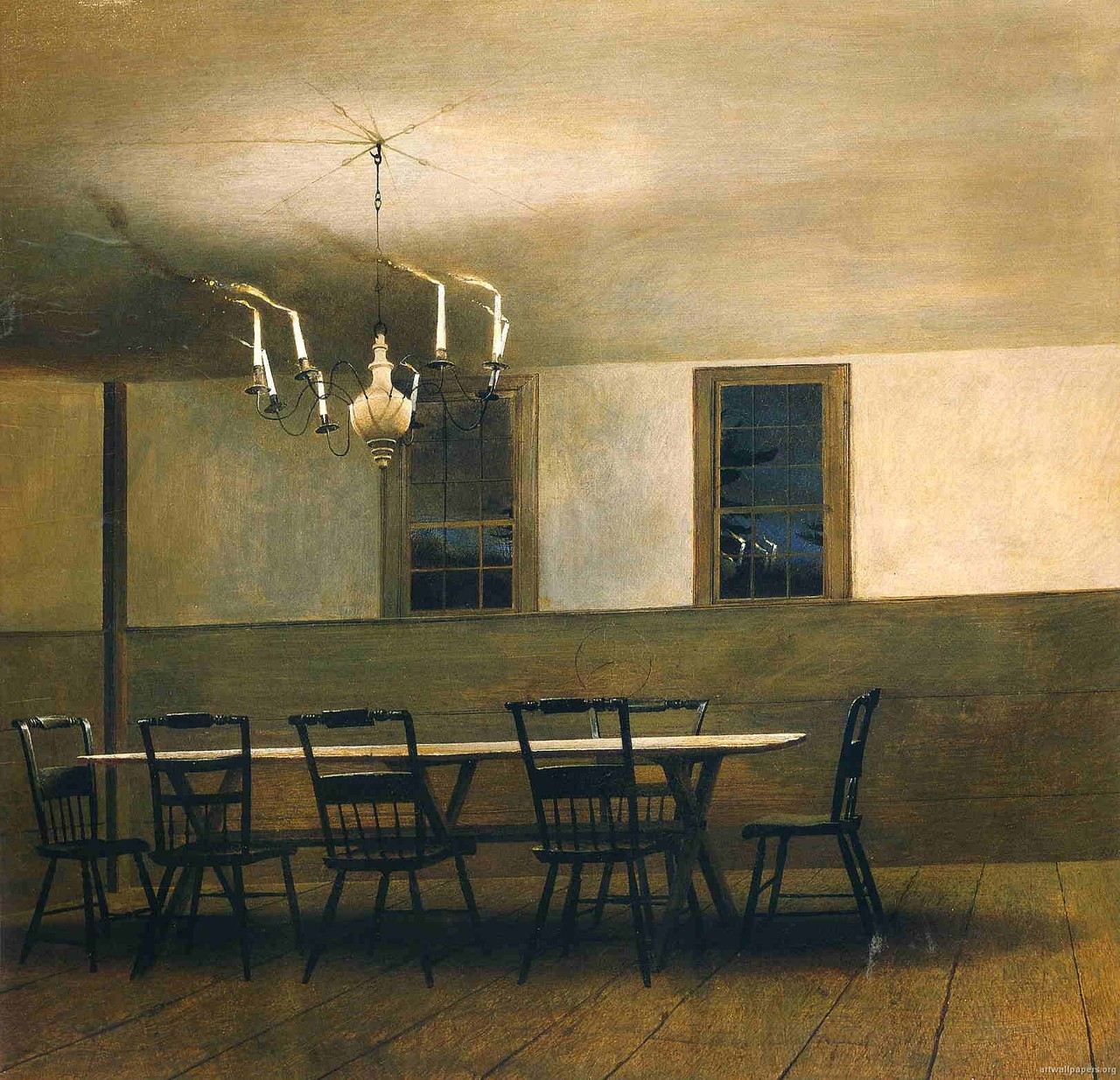 The witching hour 1977 tempera on panel andrew wyeth