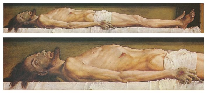 Hans Holbien - The Body of the Dead Christ in the Tomb - 1520-1522
