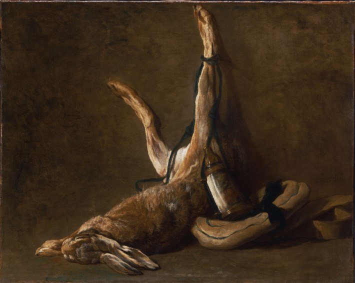 Still Life with a Hare, 1730 - Jean-Baptiste-Siméon Chardin, French, 1699 - 1779 - 25 5/8 x 32 inches (65.1 x 81.3 cm)