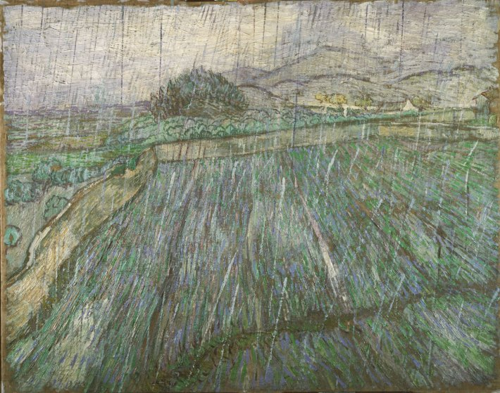 Rain, 1889 - Vincent Willem van Gogh, Dutch, 1853 - 1890 - 28 7/8 x 36 3/8 inches - Oil on Canvas