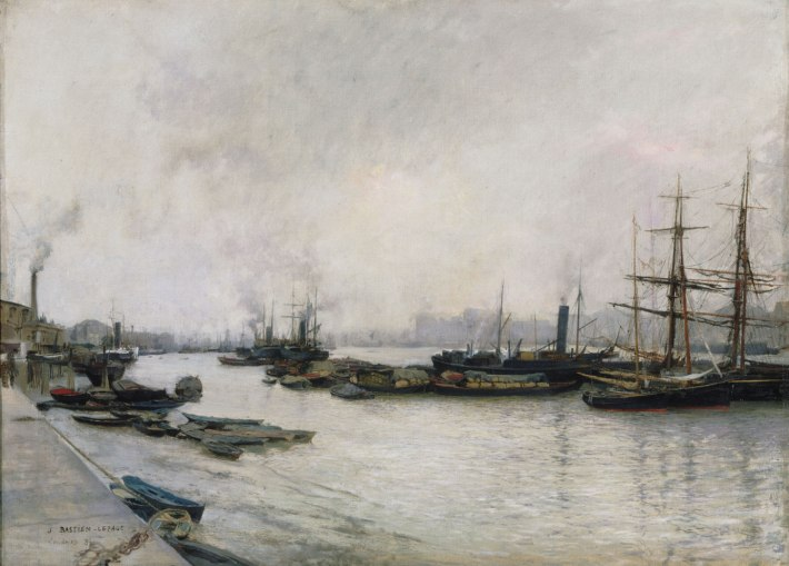 The Thames, London, 1882 - Jules Bastien-Lepage, French, 1848 - 1884 - 22 5/16 x 30 3/8 inches