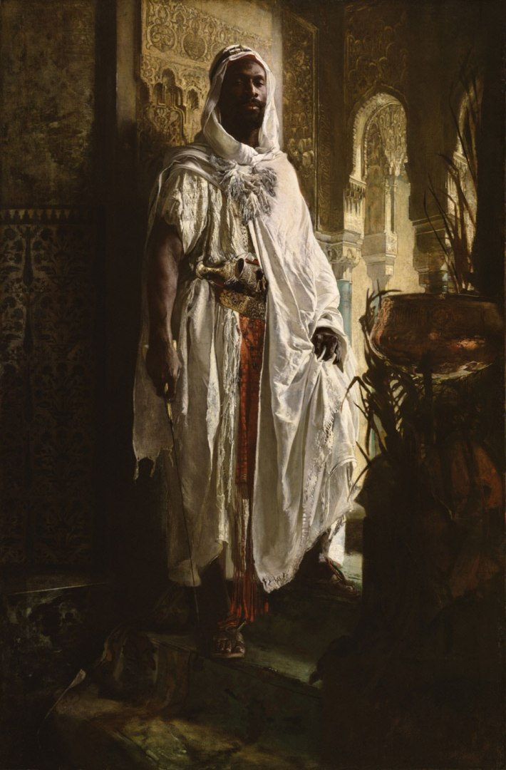 The Moorish Chief, 1878 - Eduard Charlemont, Austrian, 1848 - 1906 - 59 1/8 x 38 1/2 inches