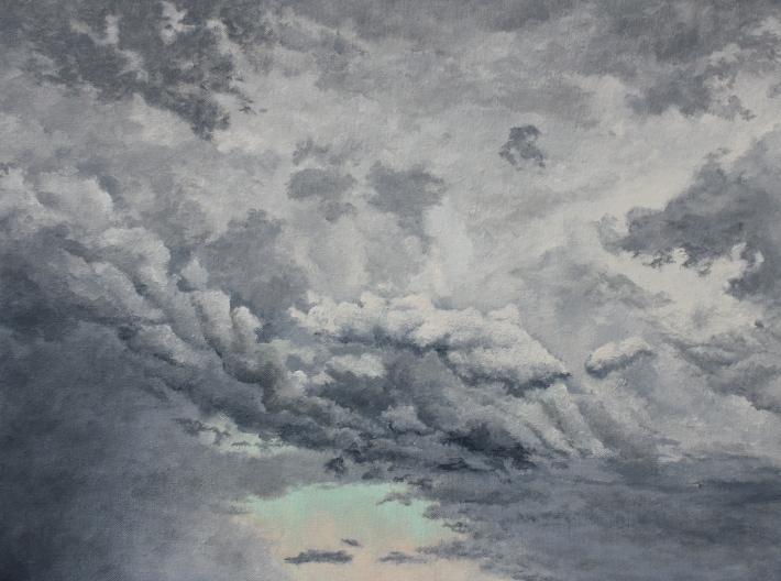 "September Rain Storm - 20""x15"" - Oil on Canvas - 2014 - Michael Burris Johnson"