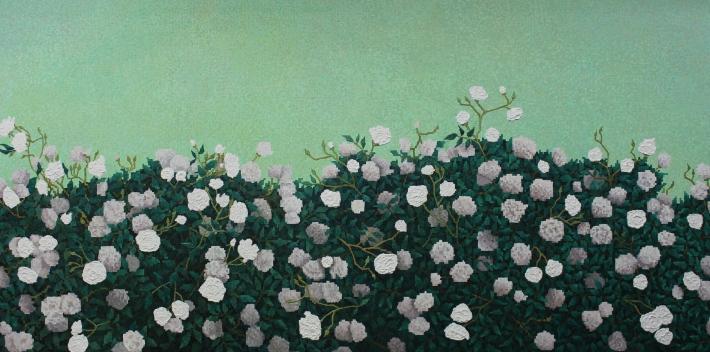 "Patience - 42"" x 84"" - Oil on Canvas - 2014-2015 - Michael Burris Johnson"