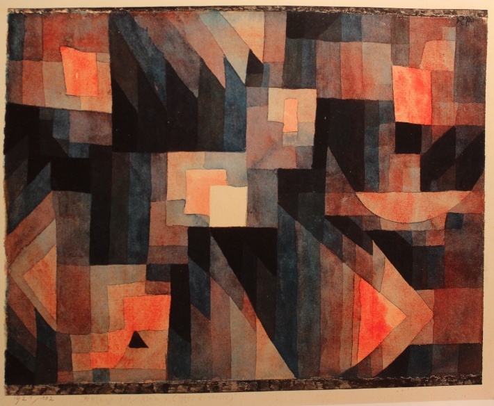 Paul Klee - Gradation, Red-Green (Vermillion) - 1921