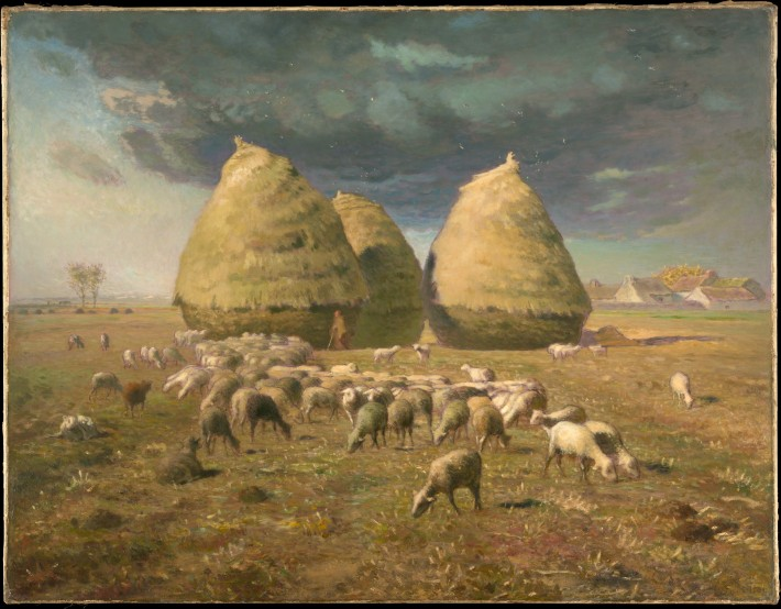 "Jean-Francois-Millet, Haystacks: Autumn, 1874, Oil on Canvas, 33 1/2"" x 43 3/8"""
