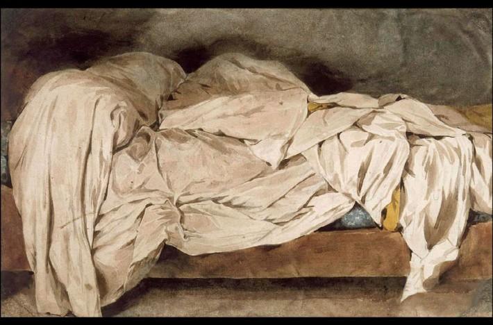 Delacroix.UnmadeBed.1828